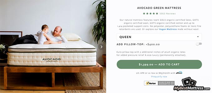 Avocado mattress reviews: the Avocado Green mattress.