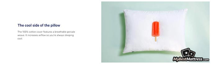 Casper pillow review: cooling effects.