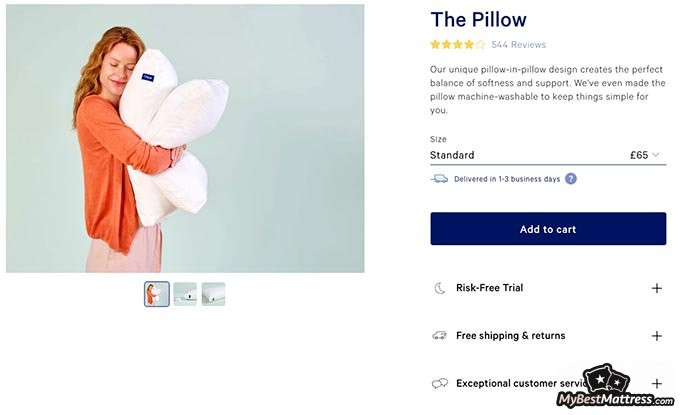 Casper pillow review: the price of the Casper pillow.