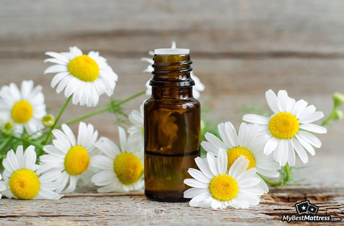Essential oils for sleep: chamomile essential oil