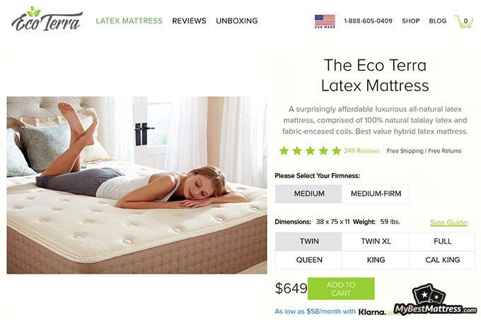 Eco Terra mattress review: mattress