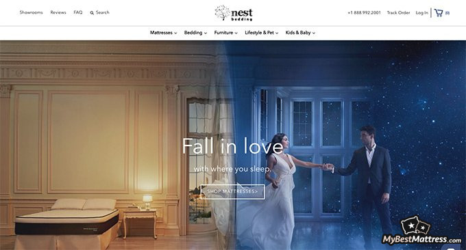 Nest Bedding reviews: homepage