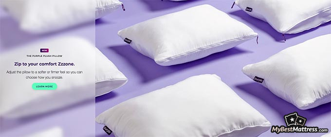 Purple pillow review: comfort zone ad.